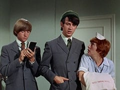 Peter Tork, Mike Nesmith, Chambermaid (Ceil Cabot)