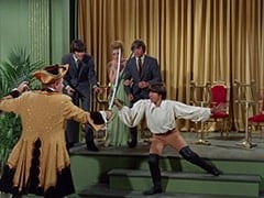 Otto (Theo Marcuse), Micky Dolenz, Bettina (Katherine Walsh), Peter Tork, Davy Jones