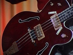 6073 red gretsch bass