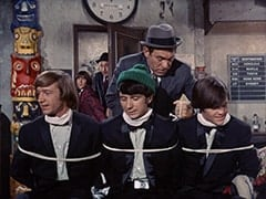 Peter Tork, Davy Jones, George (Vic Tayback), Mike Nesmith, Horace (Louis Quinn), Micky Dolenz