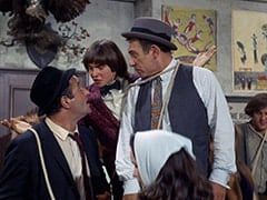 George (Vic Tayback), Davy Jones, Horace (Louis Quinn), John London
