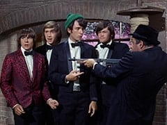 Davy Jones, Peter Tork, Mike Nesmith, Micky Dolenz, George (Vic Tayback)