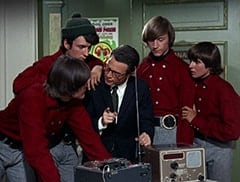 Micky Dolenz, Mike Nesmith, Honeywell (Don Penny), Peter Tork, Davy Jones