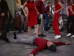 Madame Olinsky (Arlene Martel), Mike Nesmith, Karate Chop Man (?), David Pearl, Karate Chop Woman (?)