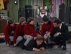 Micky Dolenz, Peter Tork, Davy Jones, Boris (Jacques Aubuchon), Mike Nesmith, Honeywell (Don Penny)