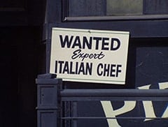 Wanted / Expert Italian Chef