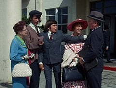 Airport Woman (?), Mike Nesmith, Davy Jones, Old Woman (Ceil Cabot), Grandfather (Ben Wright)