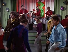 "John London, Mike Nesmith, Valerie Kairys, Davy Jones, Micky Dolenz, Peter Tork - ""The Spy who Came in from the Cool"""
