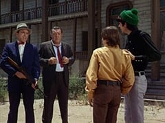 George (Len Lesser), Lenny (Lon Chaney Jr.), Davy Jones, Mike Nesmith