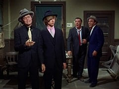 The Big Man (Micky Dolenz), Spider (Peter Tork), Lenny (Lon Chaney Jr.), George (Len Lesser)