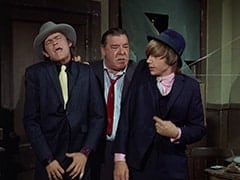 The Big Man (Micky Dolenz), Lenny (Lon Chaney Jr.), Spider (Peter Tork)