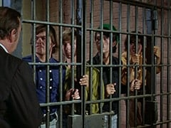 Lenny (Lon Chaney Jr.), Micky Dolenz, Peter Tork, Mike Nesmith, Davy Jones