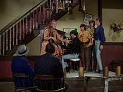 George (Len Lesser), Bessie Kowalski (Rose Marie), Lenny (Lon Chaney Jr.), Mike Nesmith, Davy Jones, Peter Tork, Micky Dolenz