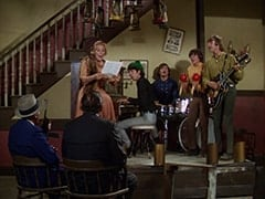 George (Len Lesser), Bessie Kowalski (Rose Marie), Lenny (Lon Chaney Jr.), Mike Nesmith, Micky Dolenz, Davy Jones, Peter Tork