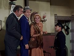 Lenny (Lon Chaney Jr.), George (Len Lesser), Bessie Kowalski (Rose Marie), Ghost Town Cop (?)