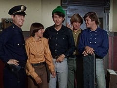 1st Cop (Hollis Morrison), Davy Jones, Mike Nesmith, Peter Tork, Micky Dolenz
