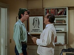 Mike Nesmith, Dr. Mann (Jerry Colonna) - Dunphy the wonder dog