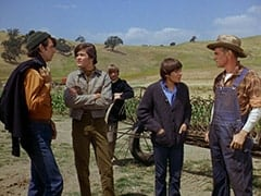 Mike Nesmith, Micky Dolenz, Peter Tork, Davy Jones, Farmer Fisher (Jim Boles)