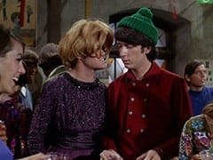 Tall Brunette Extra, Mrs. Arcadian (Micky Dolenz), Mike Nesmith, David Price