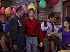 General Harley Vandenberg (Arch Johnson), Peter Tork, Dark Brunette Extra