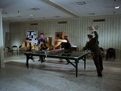 Davy Jones, Micky Dolenz, Ping Pong Woman (?), Mike Nesmith, Peter Tork, Guard (Joe Higgins)