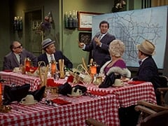 Paddy the Fix (Jon Kowal), Red O'Leary (Paul Sorensen), Fuselli (Harvey Lembeck), Big Flora (Helene Winston), Benny the Book (Mousy Garner)