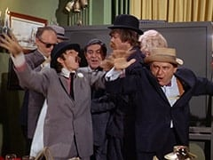 Paddy the Fix (Jon Kowal), Davy Jones, Fuselli (Harvey Lembeck), Micky Dolenz, Big Flora (Helene Winston), Benny the Book (Mousy Garner)