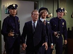 Policeman #2 (?), Inspector (Dort Clark), Peter Tork, Paul the Policeman (Don Kennedy)