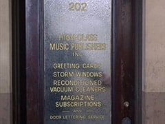 202 / High Class Music Publishers Inc. / Greeting Cards, Storm Windows, Reconditioned Vacuum Cleaners, Magazine Subscriptions, and Door Letter Service