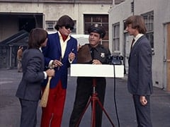 Davy Jones, M.D. (Micky Dolenz), Watchman (Buddy Lewis), Peter Tork