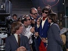 Ric Klein, Peter Tork, Valerie Kairys, Director (Larry Gelman), Producer (Irwin Charone), David Price, M.D. (Micky Dolenz), Davy Jones