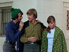 Mike Nesmith, Peter Tork, Valerie Cartwright (Lisa James)