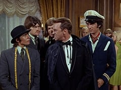 Davy Jones, Micky Dolenz, Peter Tork, Ronnie Farnsworth (George Furth), Light Blonde Extra, Mike Nesmith