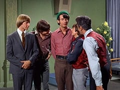 Peter Tork, Micky Dolenz, Mike Nesmith, Davy Jones, Renaldo (Hal March)