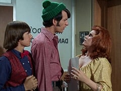 Davy Jones, Mike Nesmith, Miss Buntwell (Karen James)