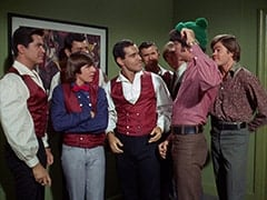 Davy Jones, Smoothie (Derrik Lewis), Peter Tork, Mike Nesmith, Micky Dolenz