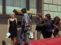 Girl on Street (?), Mike Nesmith, Peter Tork, Davy Jones, Micky Dolenz