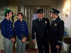 Mike Nesmith, Micky Dolenz, Rantha Mansion Guard #1 (Ralph Roberts), Rantha Mansion Guard #2 (Tony Regan)
