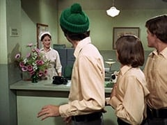 Nurse (Nancy Fish), Mike Nesmith, Davy Jones, Micky Dolenz