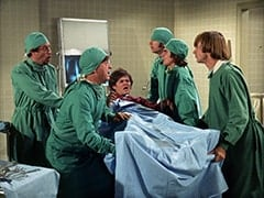Dr. Marcovich (Vito Scotti), Bruno (Vincent Gardenia), Micky Dolenz, Mike Nesmith, Davy Jones, Peter Tork