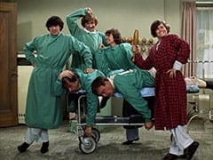 Mike Nesmith, Dr. Marcovich (Vito Scotti), Peter Tork, Bruno (Vincent Gardenia), Davy Jones, Micky Dolenz