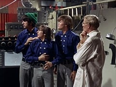 Mike Nesmith, Davy Jones, Micky Dolenz, Dr. Mendoza (John Hoyt)