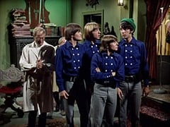 Dr. Mendoza (John Hoyt), Micky Dolenz, Peter Tork, Davy Jones, Mike Nesmith