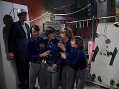 Monster (Richard Kiel), Mike Nesmith, Micky Dolenz, Peter Tork, Davy Jones