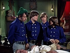 Dr. Mendoza (John Hoyt), Mike Nesmith, Micky Dolenz, Peter Tork, Davy Jones