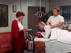 Miss Irene Chomsky (Bobo Lewis), Hubbell Benson (Carl Ballantine), Tony the Masseur (Joe Higgins)