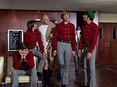 Micky Dolenz, Davy Jones, Hubbell Benson (Carl Ballantine), Peter Tork, Mike Nesmith