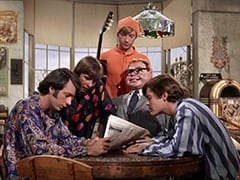 Mike Nesmith, Davy Jones, Peter Tork, Mr. Schneider, Micky Dolenz