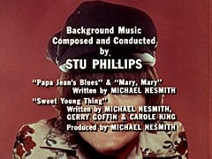 "Background Music Composed and Conducted by Stu Phillips / ""Papa Jean's Blues"" & ""Mary, Mary"" Written by Michael Nesmith / ""Sweet Young Thing"" Written by Michael Nesmith, Gerry Goffin & Carole King / Produced by Michael Nesmith"