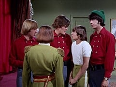 Peter Tork, Davy Jones (Rodney Bingenheimer), Micky Dolenz, Prince Ludlow (Davy Jones), Mike Nesmith